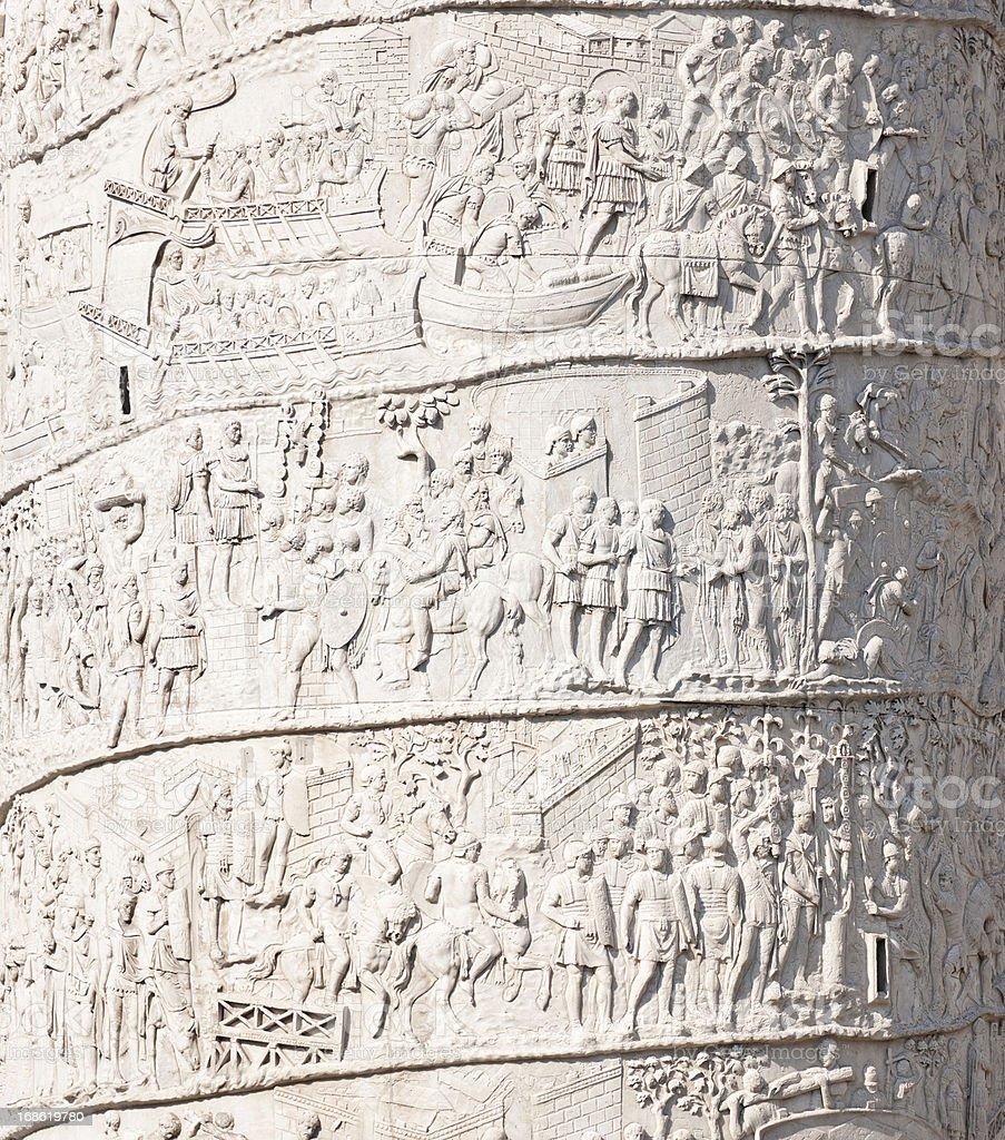 Ancient Roman Scenes on Trajan's Column stock photo