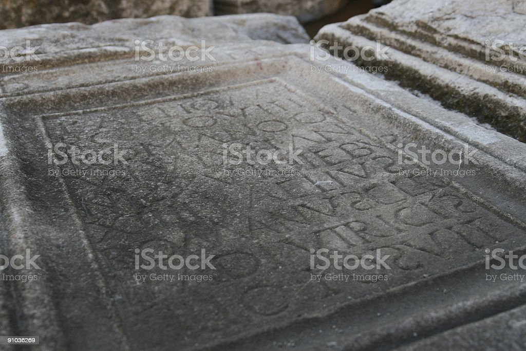 Ancient Roman Sign royalty-free stock photo