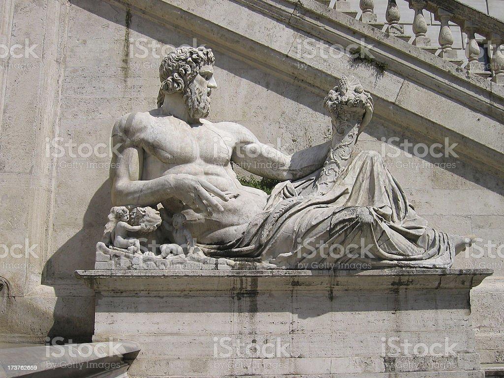 Ancient Roman Stone Sculpture royalty-free stock photo