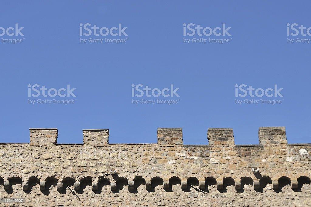Ancient roman stone wall royalty-free stock photo