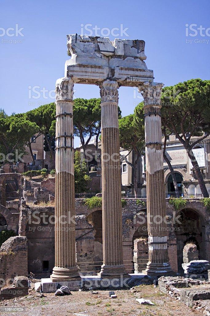 Ancient Roman Temple Columns. royalty-free stock photo
