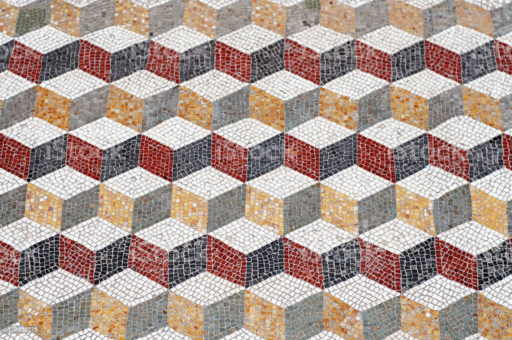 Ancient Roman Tiles royalty-free stock photo