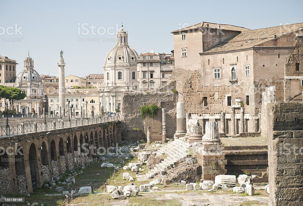 Ancient Rome - Forum of Augustus Ruins stock photo
