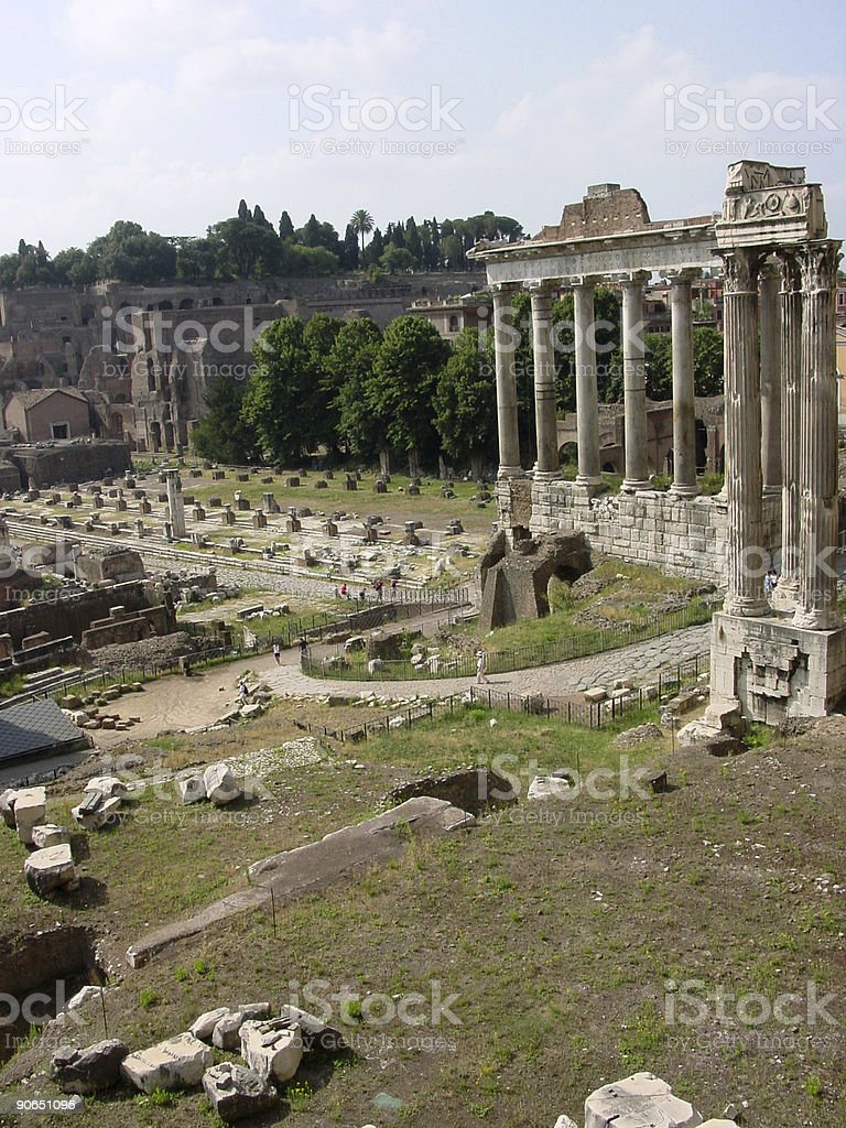 Ancient Rome in ruins royalty-free stock photo