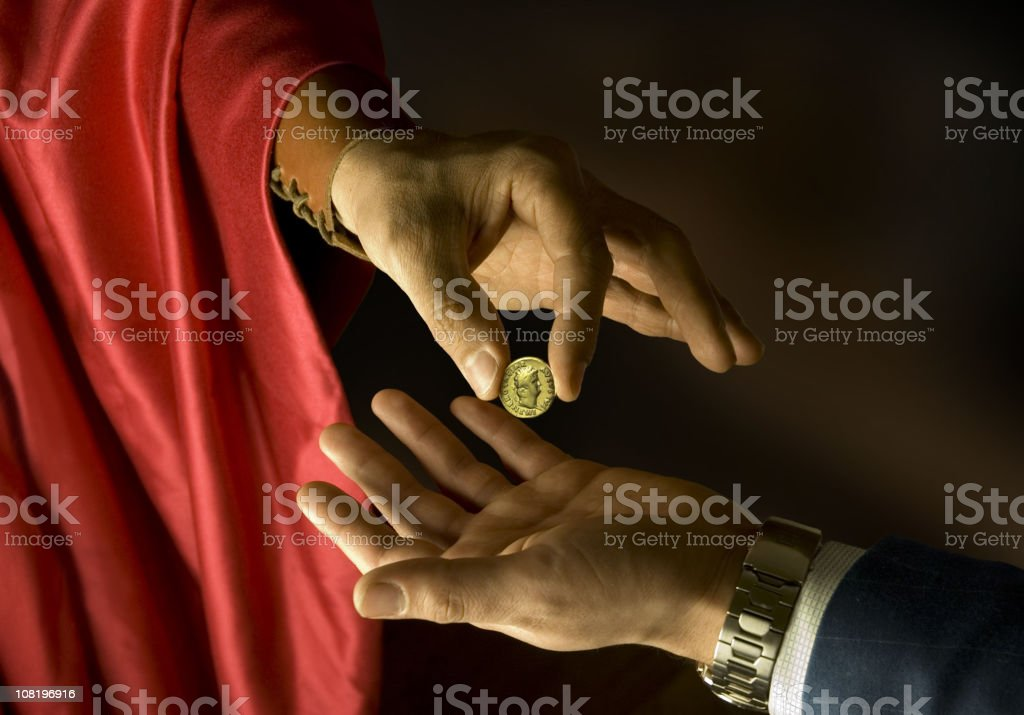 Ancient Rome meets modernity. stock photo