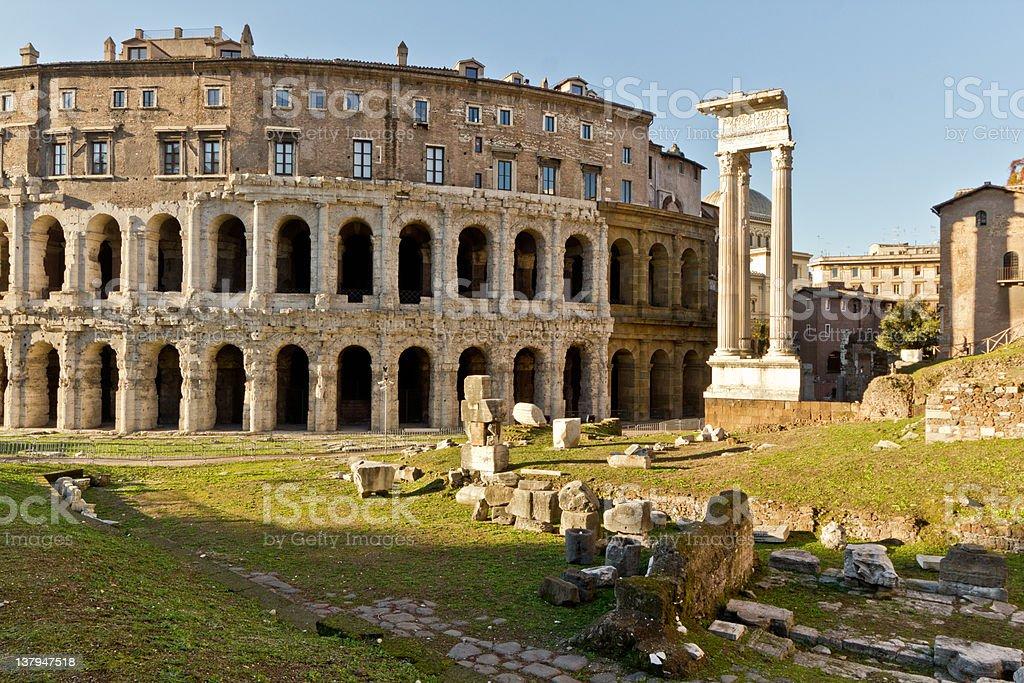 Ancient Rome Ruins stock photo