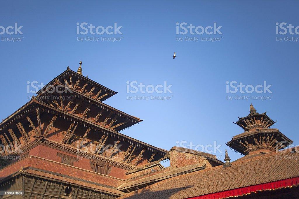 Ancient Royal palace of Patan Durbar Square. stock photo