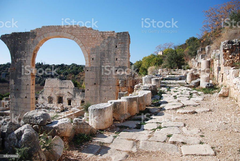 Ancient Royal Tomb Byzantine Roman Era from Turkey stock photo