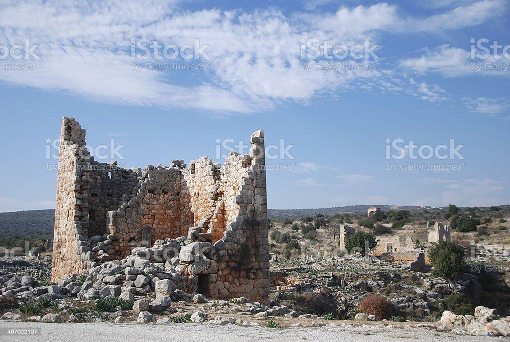 Ancient Royal Tomb Byzantine Roman Era - Turkey stock photo