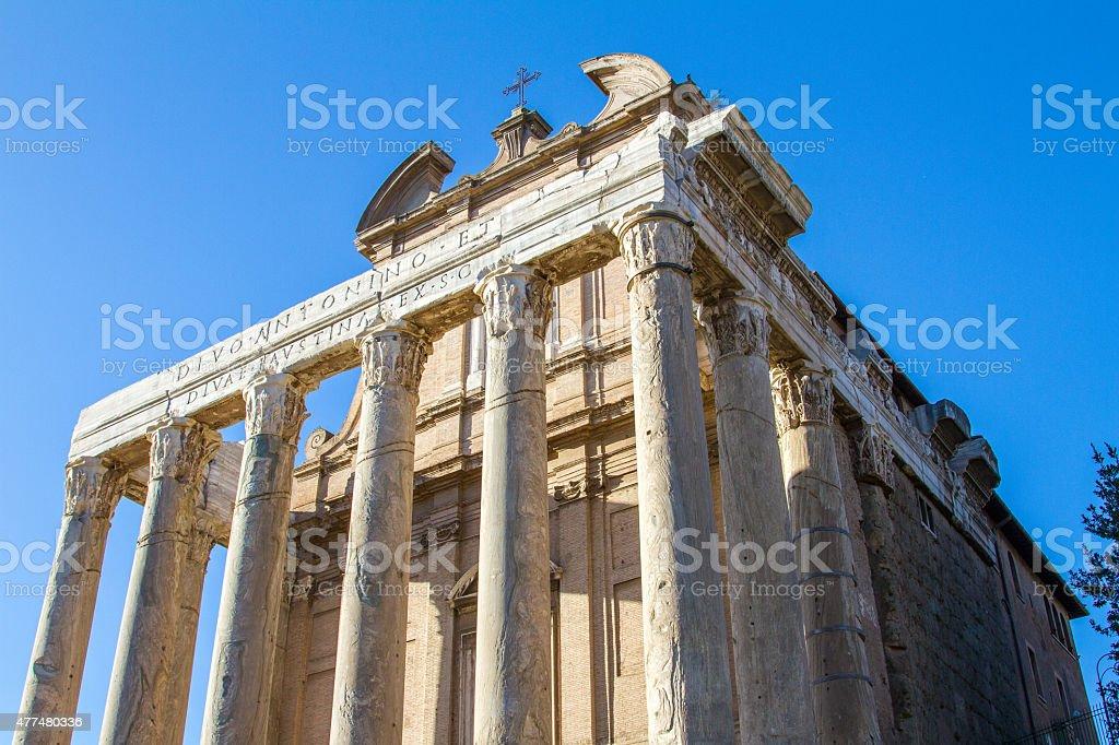 ancient ruin at rome stock photo