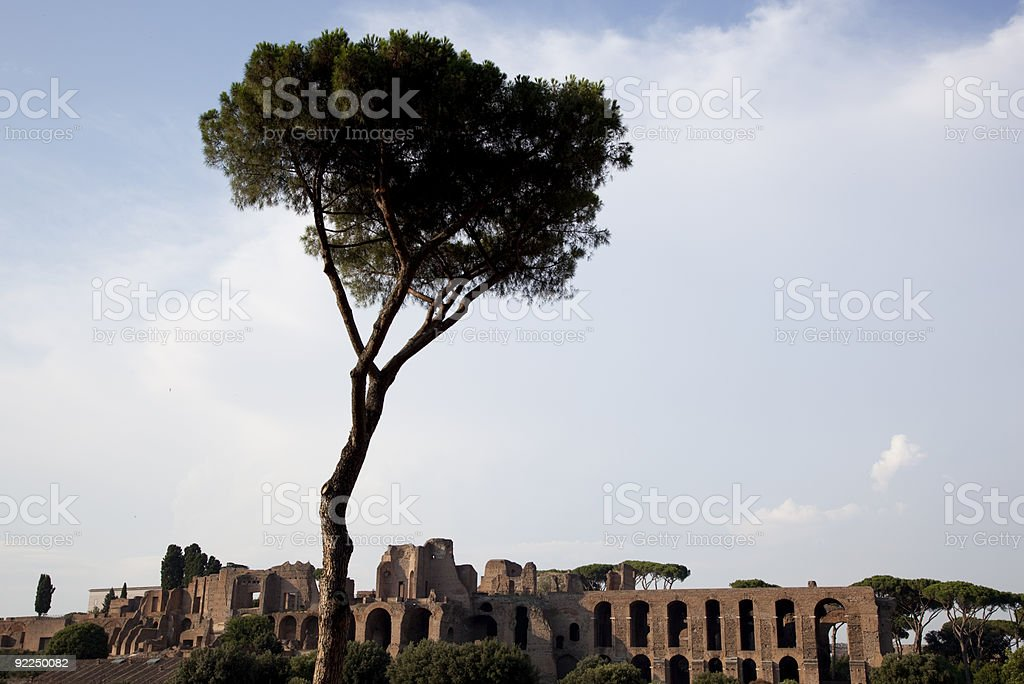 Ancient ruin stock photo