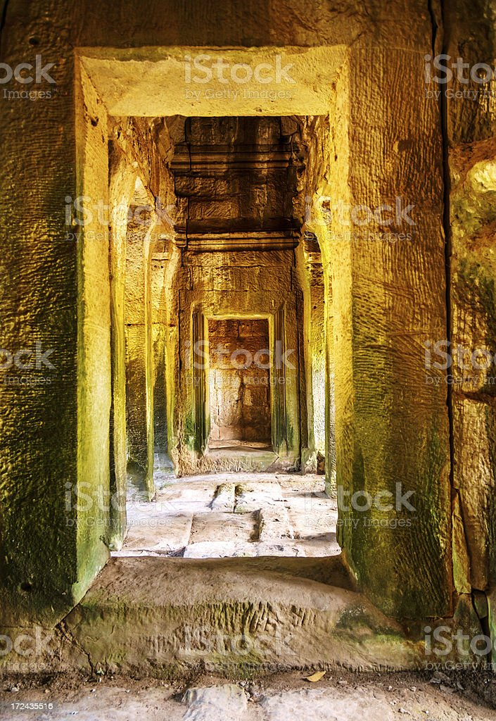 Ancient ruined temple in Angkor, Cambodia royalty-free stock photo