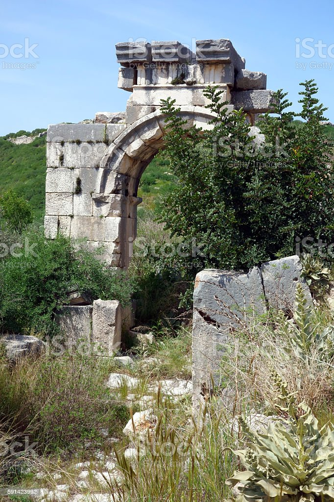 Ancient Ruines Of Xanthos, Lycia, Turkey stock photo