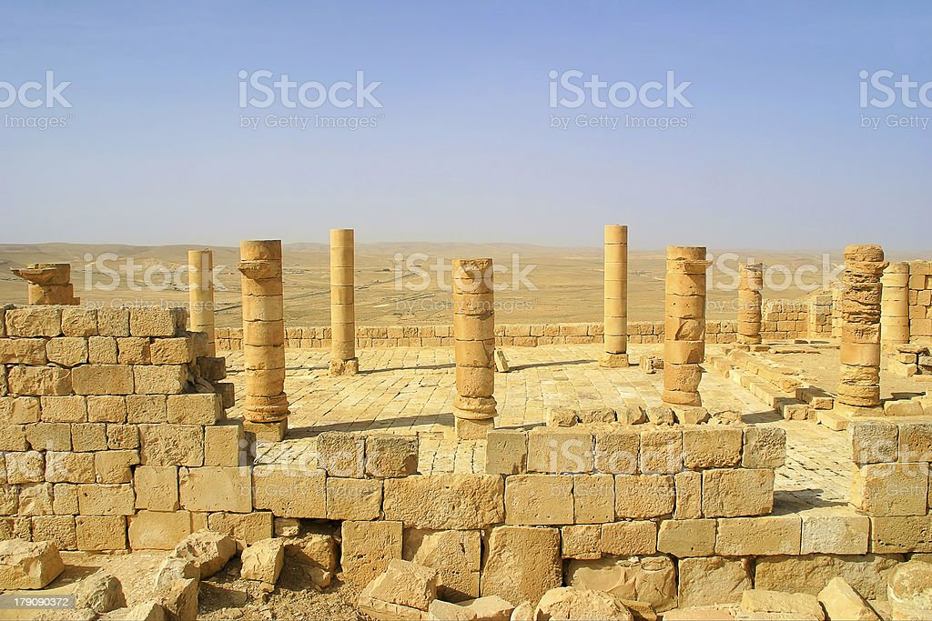 Ancient ruins. Avdat in Israel. royalty-free stock photo