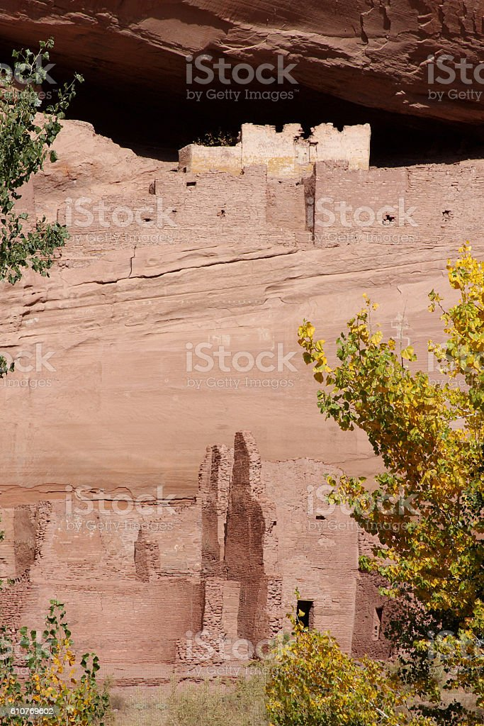 Ancient Ruins in Canyon de Celly stock photo