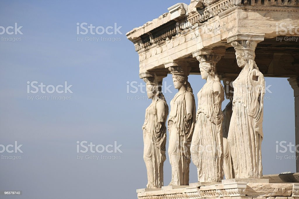Ancient ruins in Greece stock photo