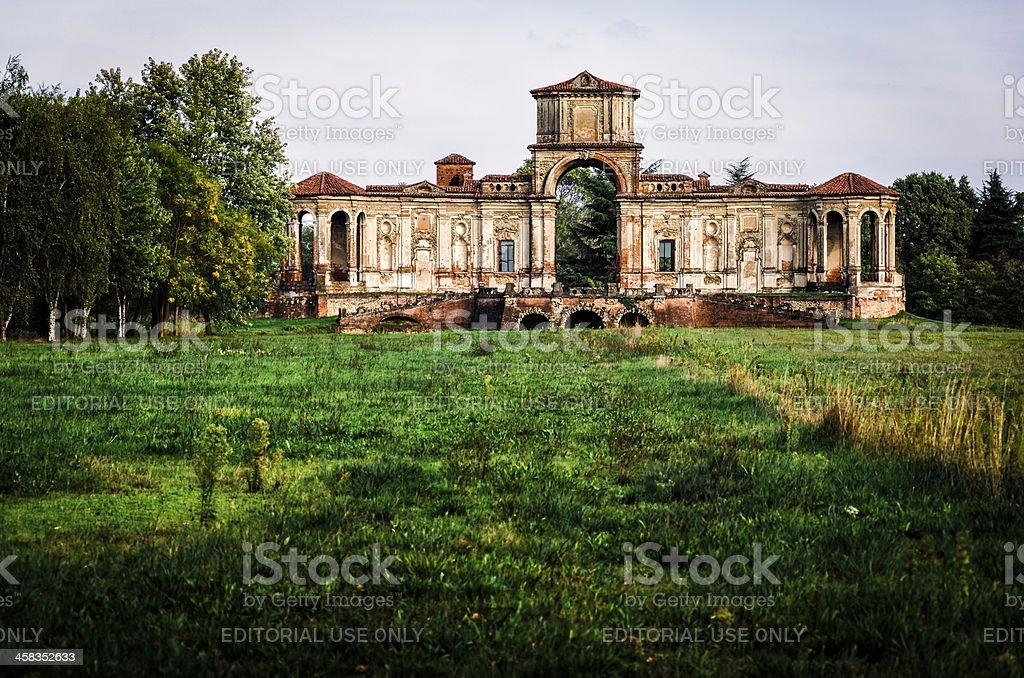 ancient ruins of an italian tea house near Pavia stock photo