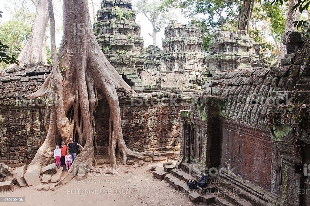 Ancient ruins of Angkor Wat. stock photo