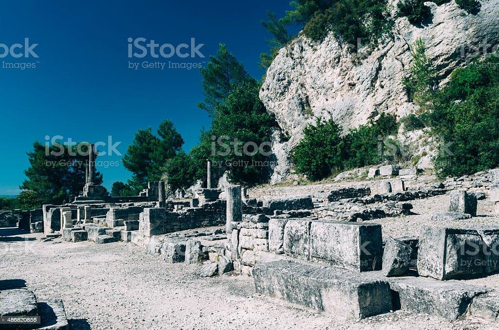 Ancient ruins of Glanum, France stock photo
