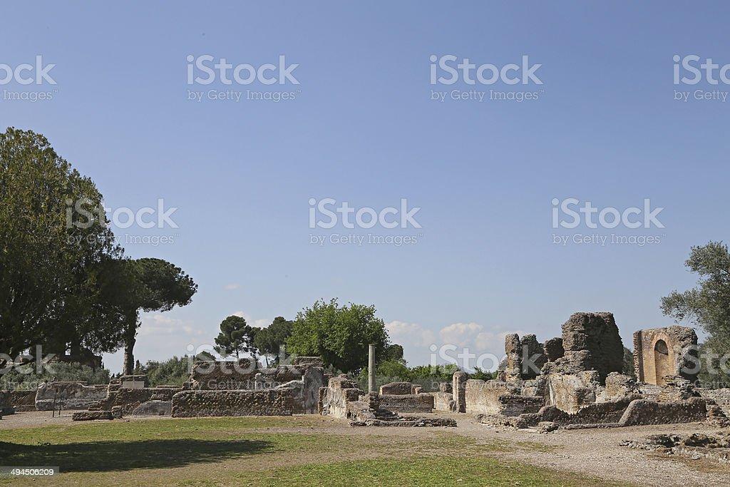 Ancient ruins of Hadrian's Villa (Villa Adriana in Italian) Tivoli, Italy stock photo