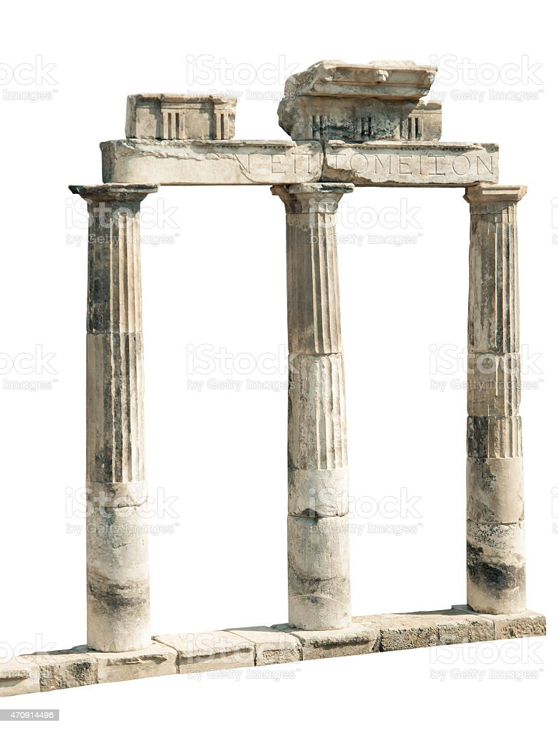 Ancient Ruins Of Hierapolis stock photo