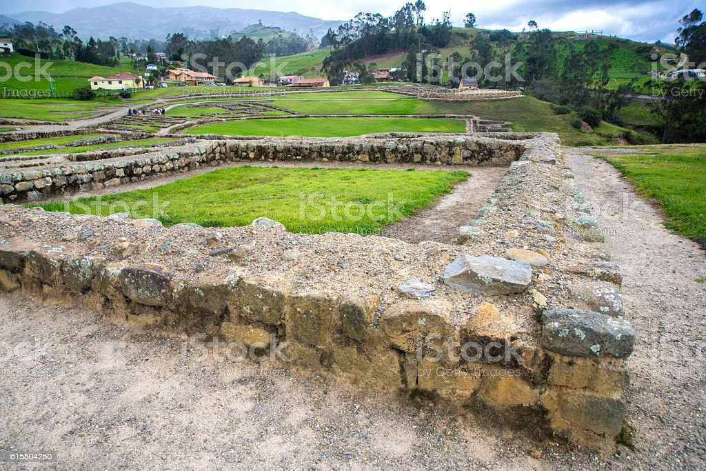 Ancient ruins of Ingapirca stock photo