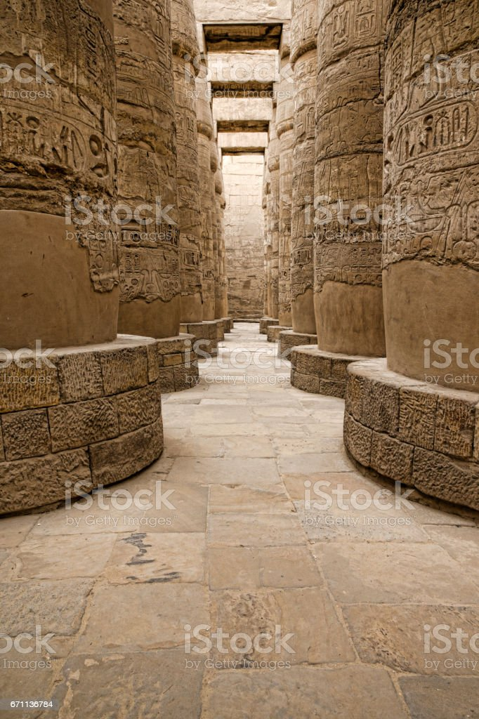 Ancient ruins of Karnak stock photo