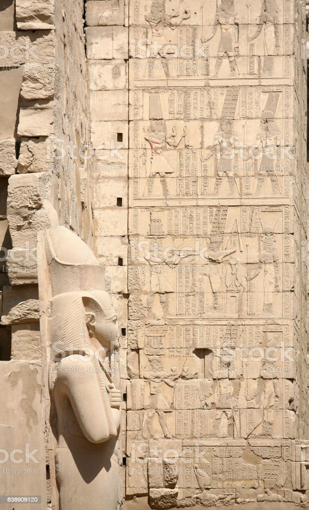 Ancient ruins of Karnak temple in Egypt in the summer stock photo