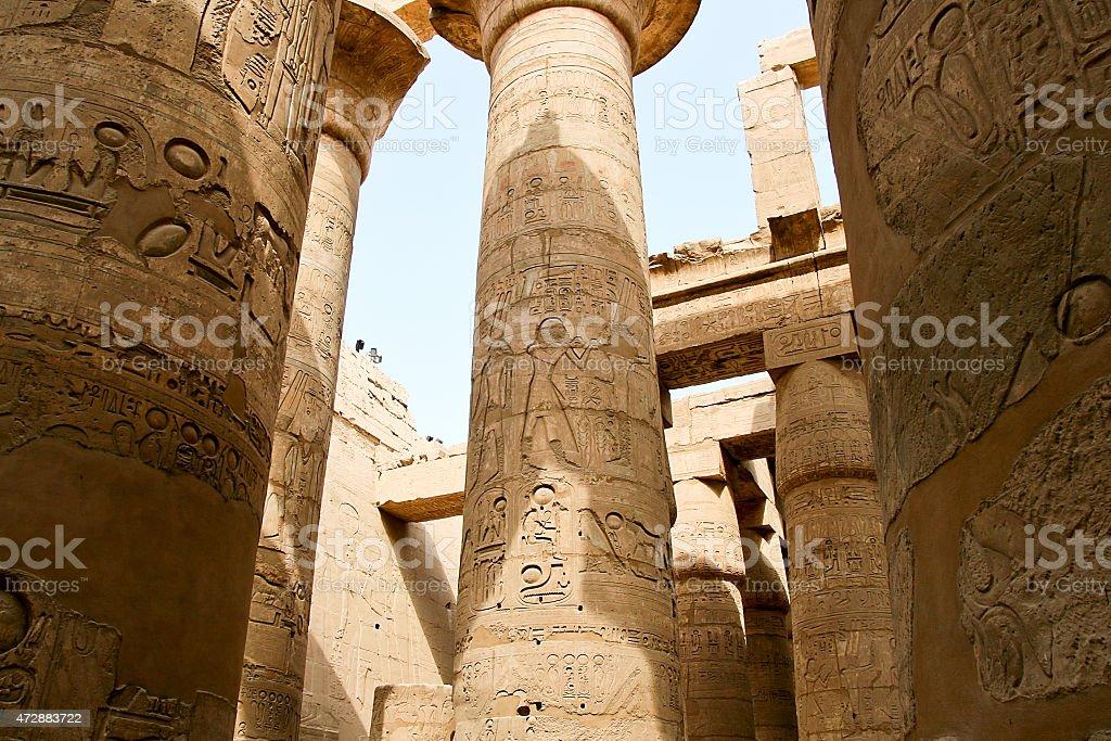 Antiguas ruinas del Templo de Karnak en Egipto. foto de stock libre de derechos