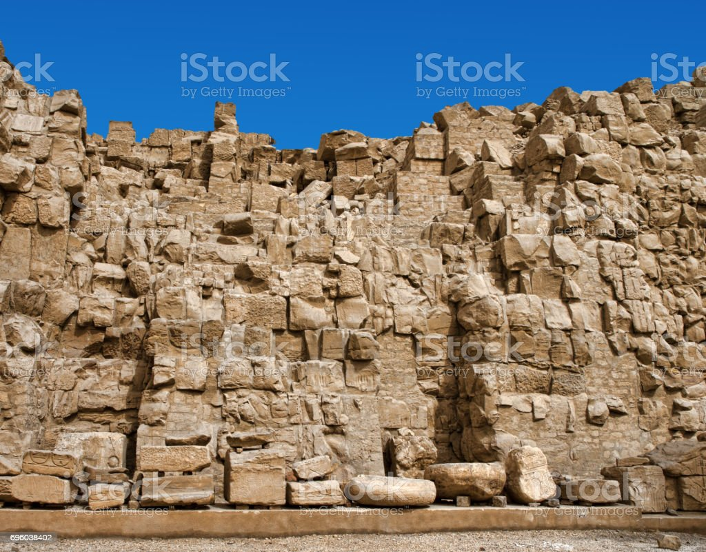Ancient ruins of Karnak temple in Egypt stock photo