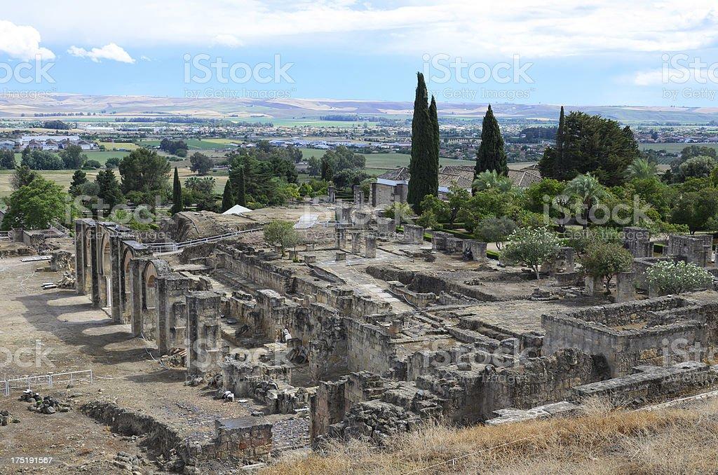 Ancient ruins of Medina Azahara stock photo