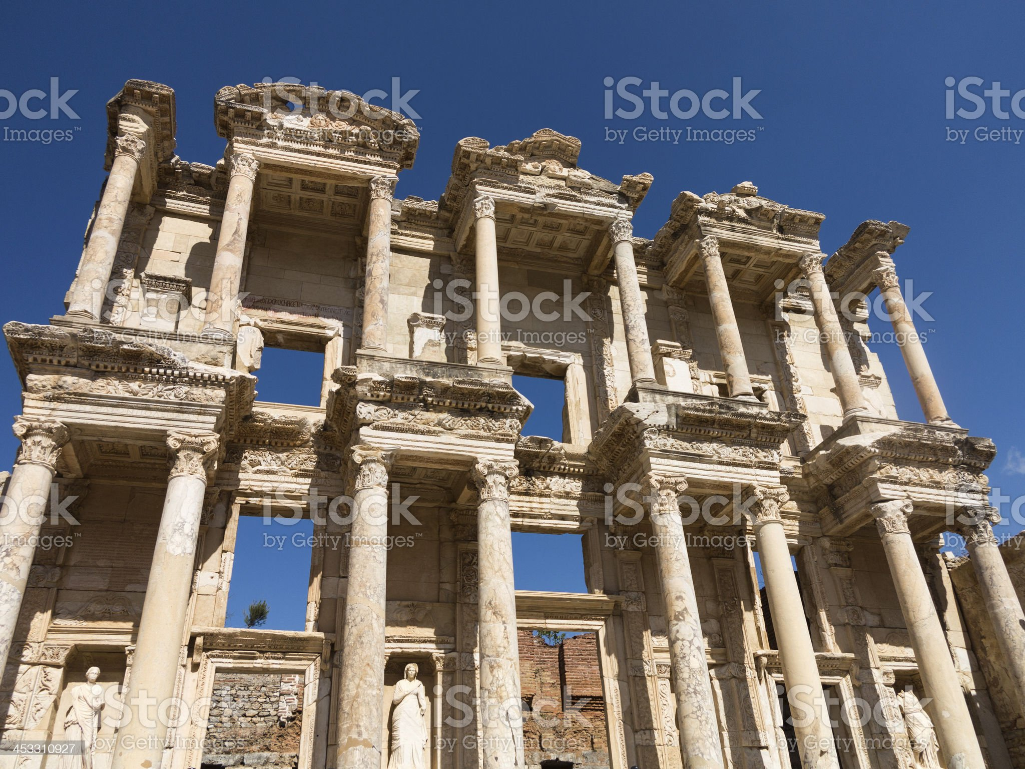 Ancient ruins of old Greek city Ephesus royalty-free stock photo