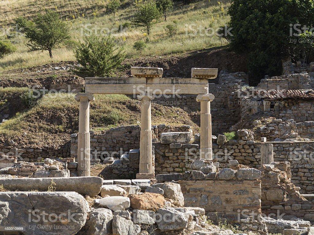 Ancient ruins of old Greek city Ephesus royalty-free stock photo