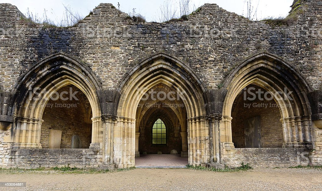 Ancient ruins of Orval stock photo