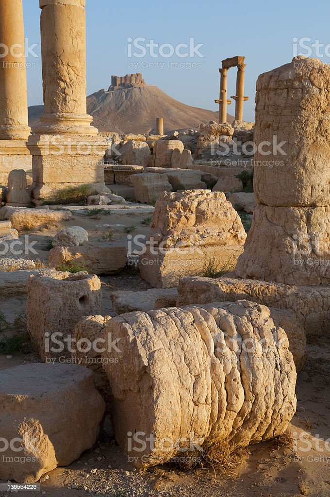 Ancient ruins of Palmyra, Syria royalty-free stock photo
