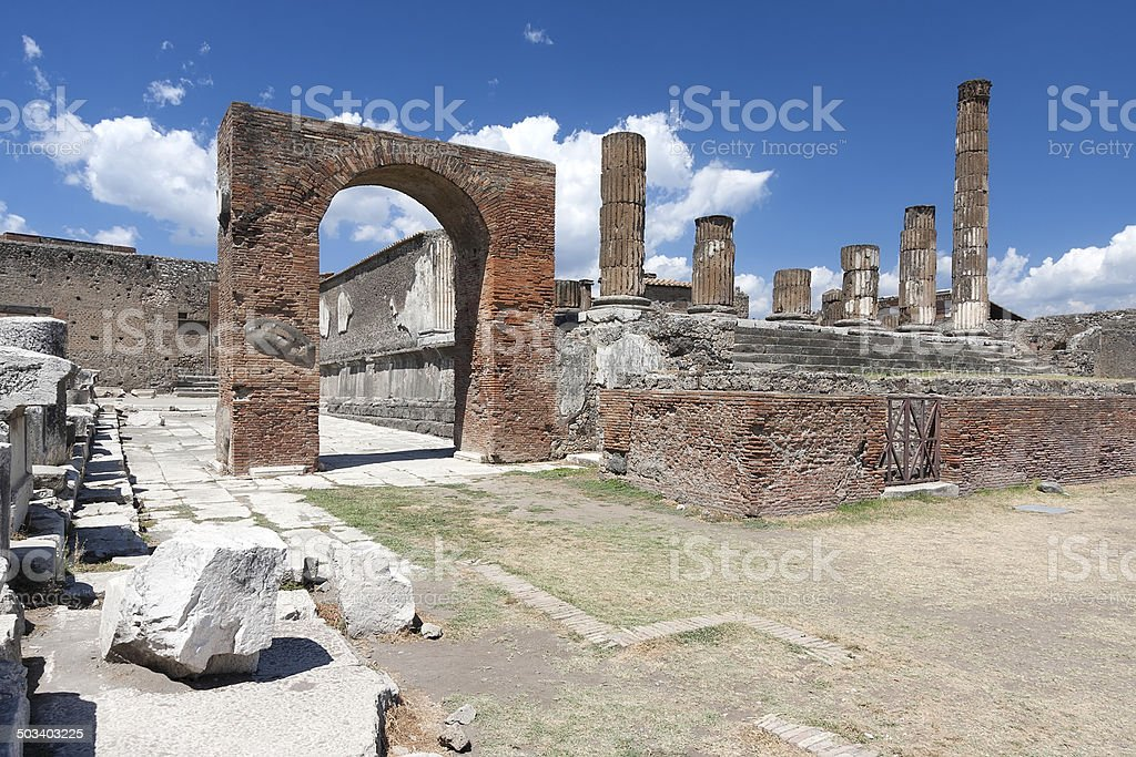 Antike Ruinen von Pompeji Lizenzfreies stock-foto