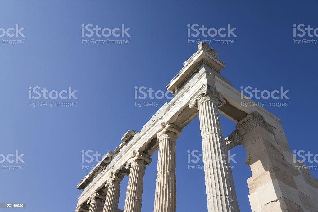 Die antiken Ruinen der Akropolis Lizenzfreies stock-foto