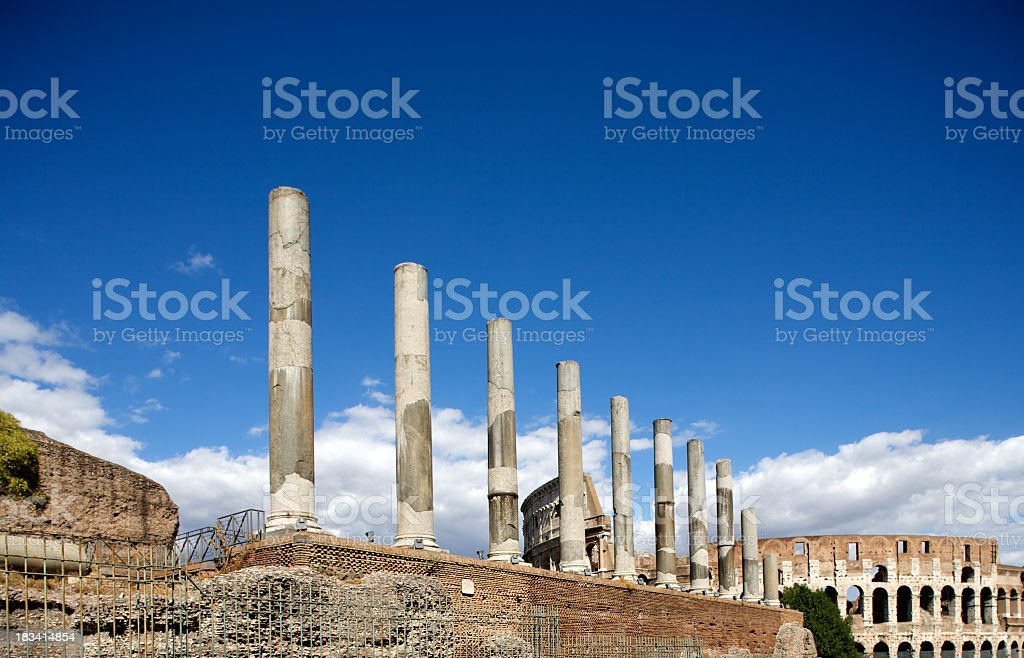 Ancient ruins of the roman forum royalty-free stock photo