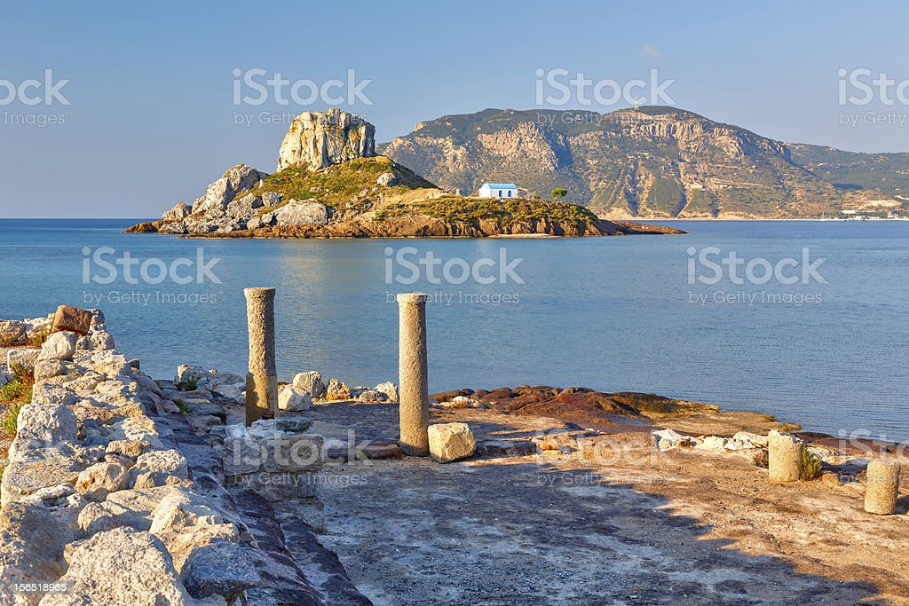 Ancient ruins on Kos, Greece stock photo