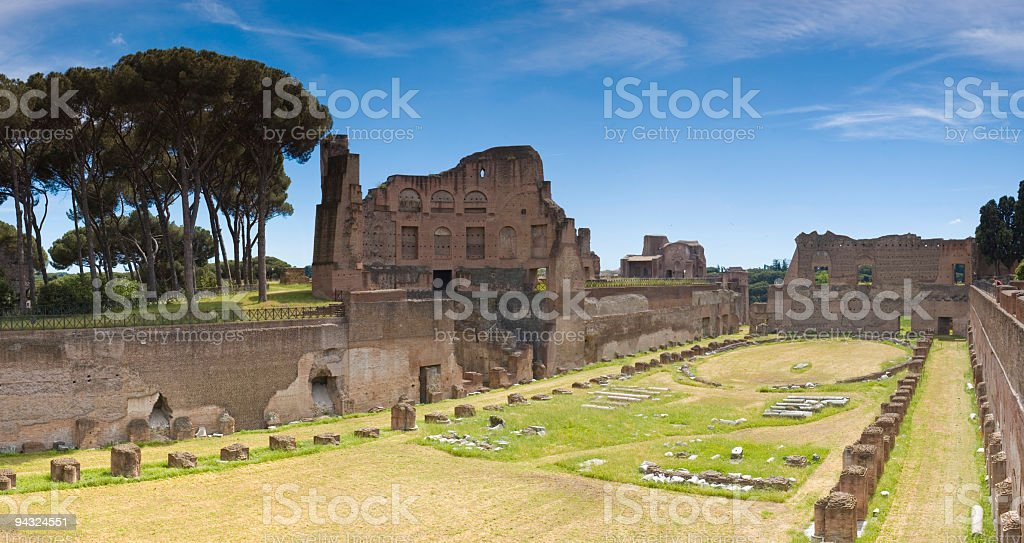 Ancient ruins, Palatino, Rome royalty-free stock photo