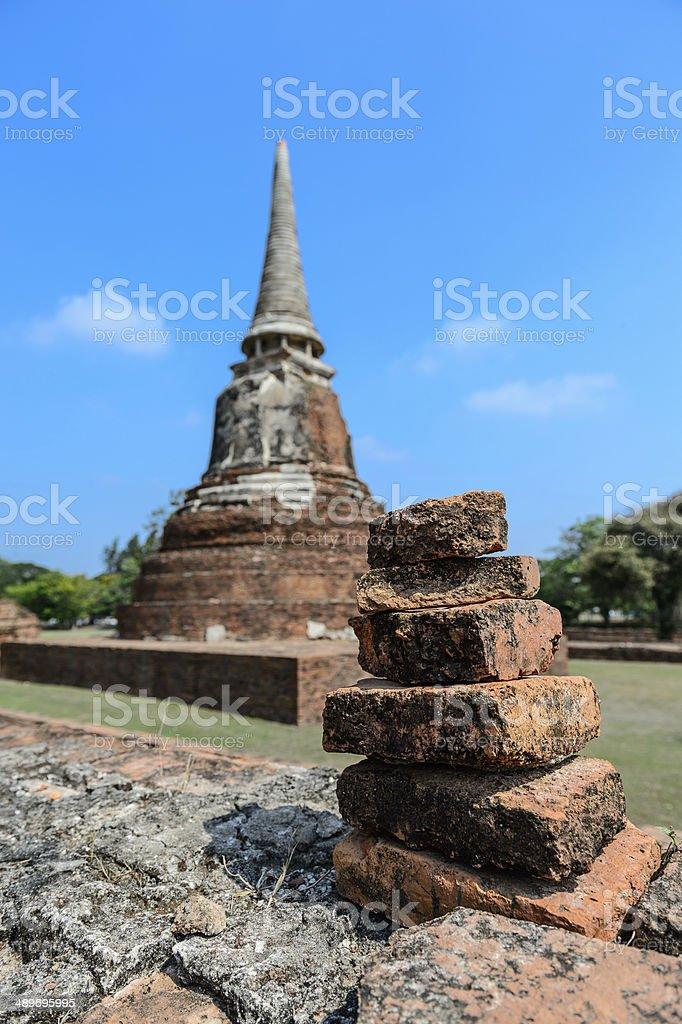 Ancient ruins,Thailand stock photo