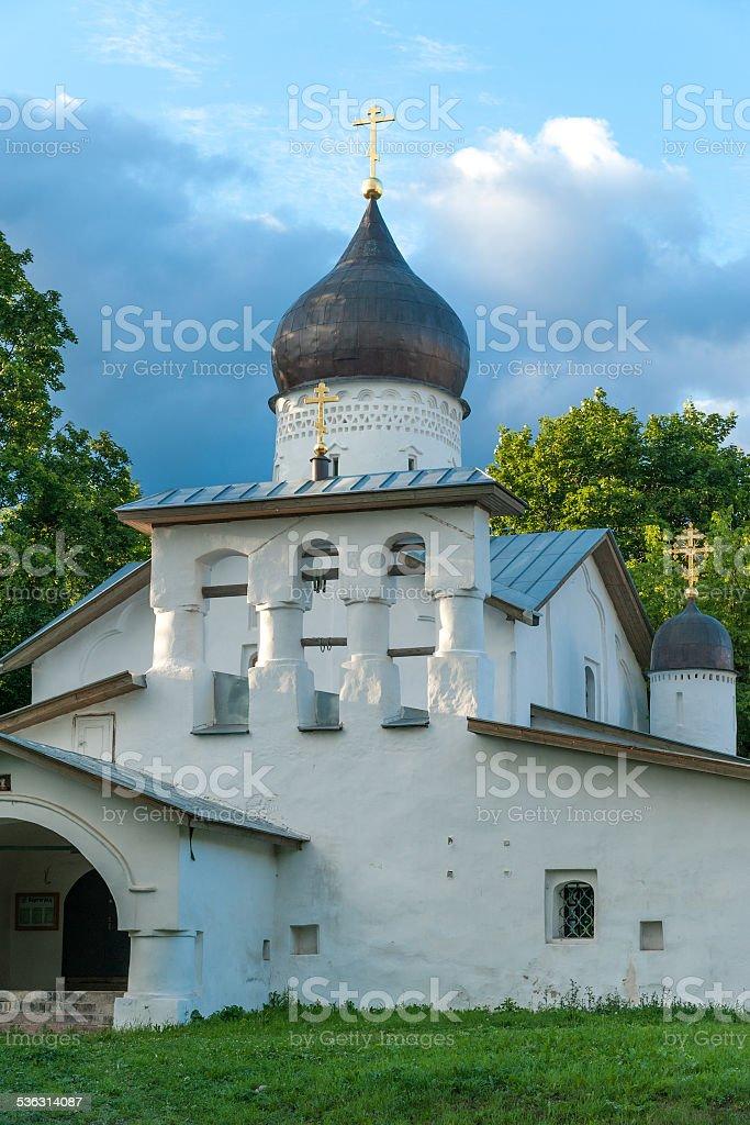 Ancient Russian church stock photo