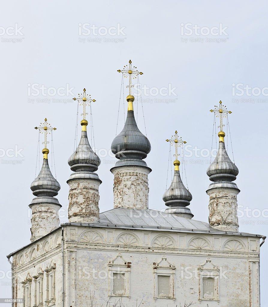 Ancient Russian Orthodox church royalty-free stock photo