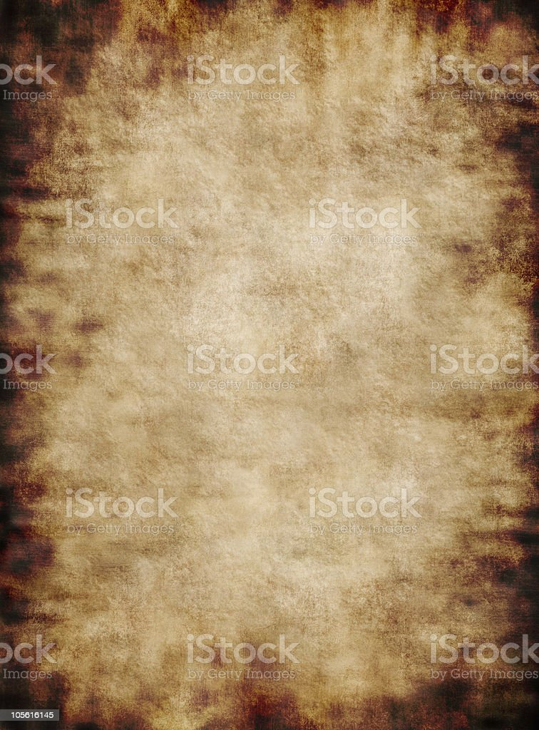 Ancient rustic grungy parchment paper texture background royalty-free stock photo
