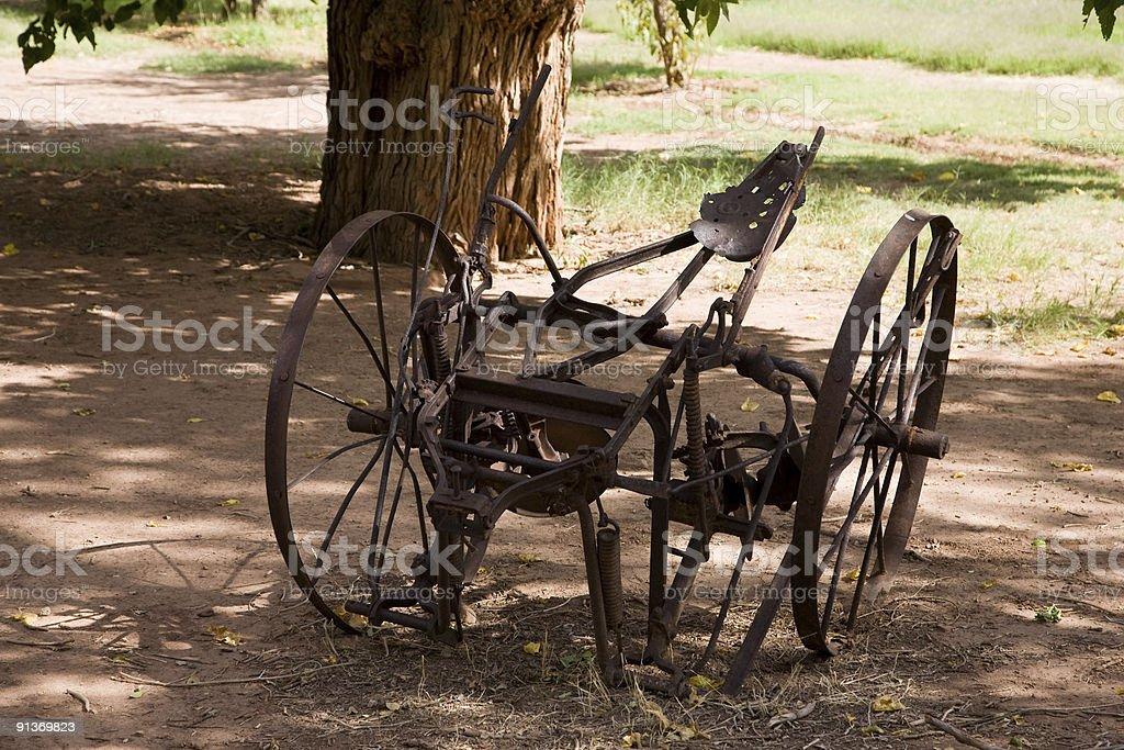 Ancient rusty Plough stock photo