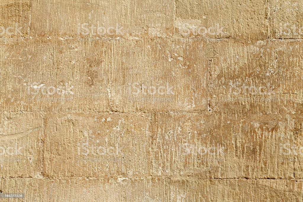 Ancient Sandstone Wall royalty-free stock photo