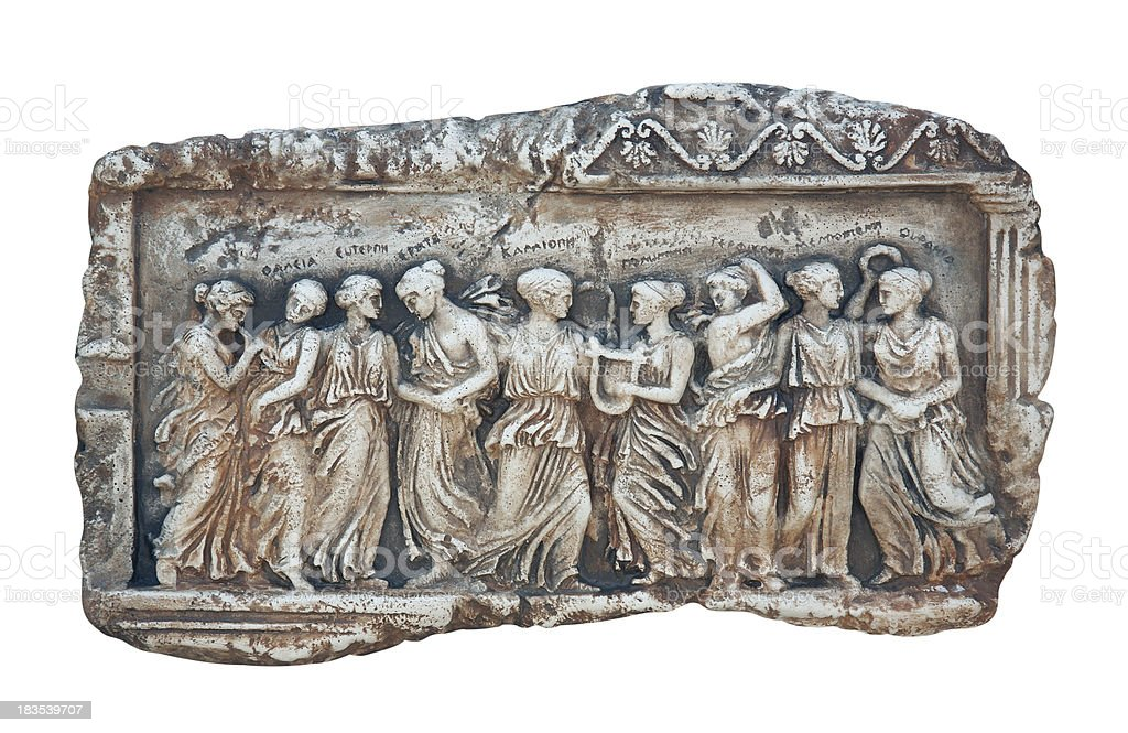 Ancient scene on marble royalty-free stock photo