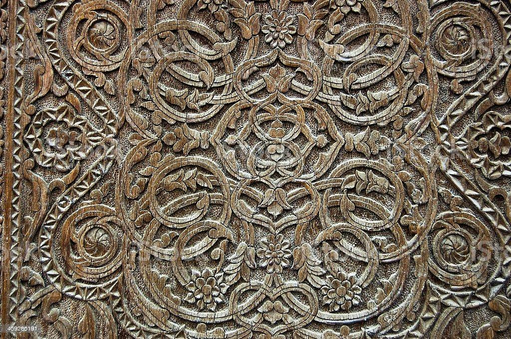 Ancient Scrimshaw Uzbekistan stock photo