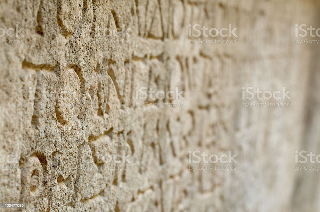 Ancient Script royalty-free stock photo