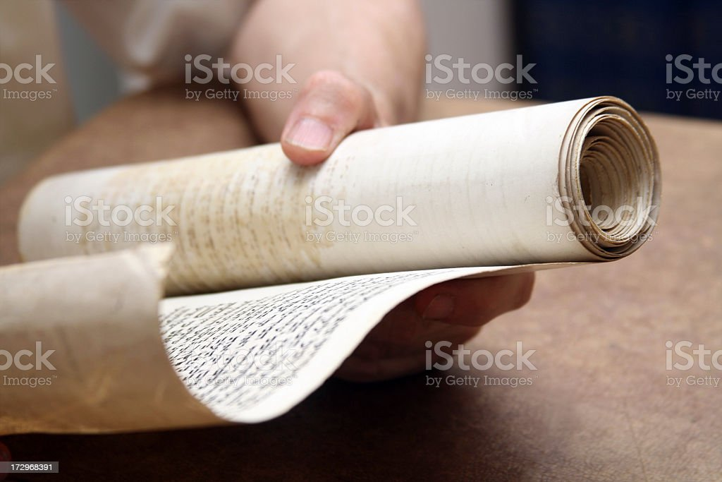 Ancient Scroll stock photo